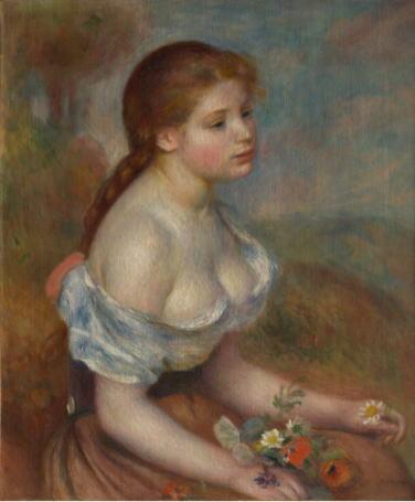 オーギュスト・ルノワール 「ヒナギクを持つ少女」