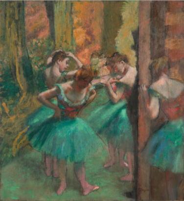 エドガー・ドガ 「踊り子たち、ピンクと緑」
