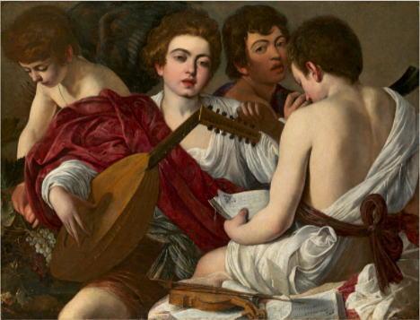 カラヴァッジョ「音楽家たち」