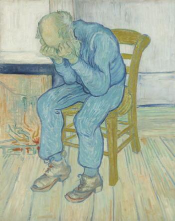 悲しむ老人(永遠の門にて)